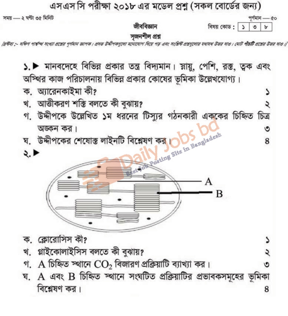 SSC Biology Suggestion and Question Patterns 2018